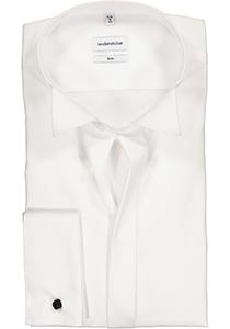 Seidensticker Slim Fit overhemd dubbele manchet wing kraag, wit