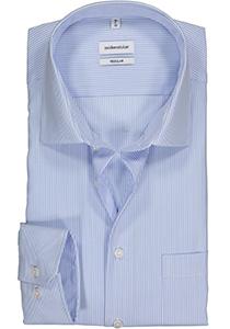 Seidensticker Regular Fit overhemd, lichtblauw gestreept