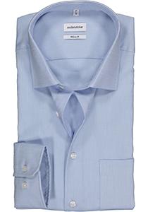 Seidensticker Regular Fit overhemd, lichtblauw structuur