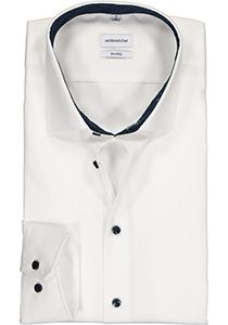 Seidensticker shaped fit overhemd, wit (contrast)