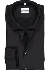 Seidensticker shaped fit overhemd, zwart (contrast)