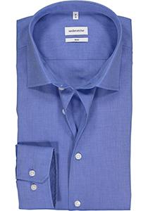 Seidensticker slim fit overhemd, lichtblauw fil a fil