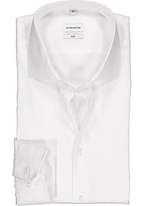Seidensticker slim fit overhemd, wit fijn Oxford