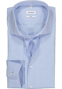 Seidensticker slim fit overhemd, lichtblauw fijn Oxford