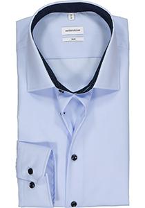 Seidensticker slim fit overhemd, lichtblauw (gestipt contrast)