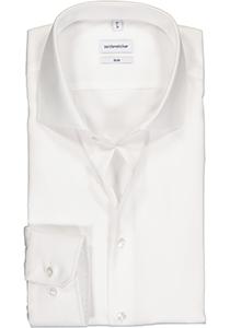 Seidensticker slim fit overhemd, wit twill