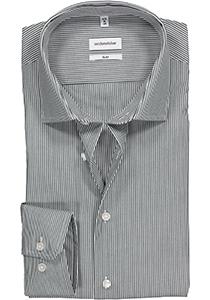 Seidensticker Slim Fit overhemd, donkerblauw gestreept