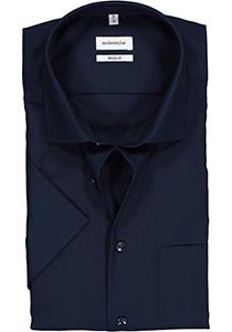 Seidensticker Regular Fit overhemd korte mouw, donkerblauw