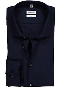 Seidensticker Slim Fit overhemd, donkerblauw