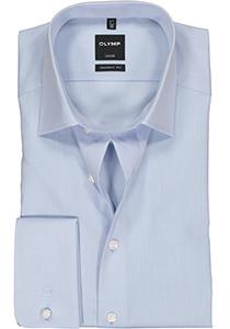 OLYMP Luxor Modern Fit overhemd, dubbele manchet, lichtblauw
