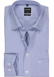 OLYMP Luxor Modern Fit overhemd, blauw met wit gestreept