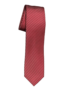 OLYMP smalle stropdas, rood-grijs gestreept