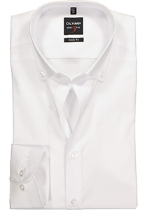 OLYMP Level 5 Body Fit overhemd, wit (button-down)