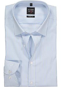 OLYMP Level 5 body fit overhemd, lichtblauw met wit gestreept