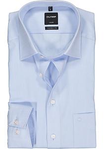 OLYMP Luxor modern fit overhemd, lichtblauw natté