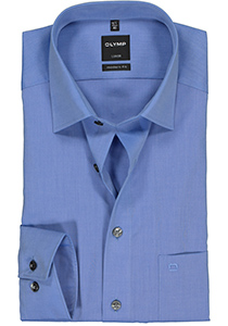 OLYMP Luxor modern fit overhemd, mouwlengte 7, blauw