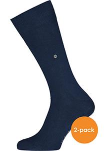 Actie 2-pack: Burlington sokken katoen (Everyday), blauw