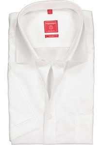 Redmond Regular Fit overhemd korte mouw, wit