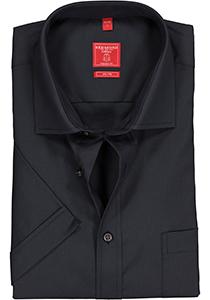 Redmond Regular Fit overhemd korte mouw, antraciet