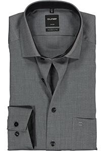 OLYMP Luxor Modern Fit overhemd, antraciet natté (contrast)