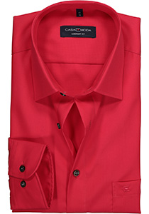Casa Moda Comfort Fit overhemd, rood