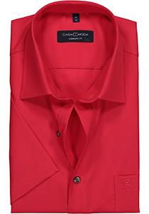 Casa Moda Comfort Fit overhemd, korte mouw, rood