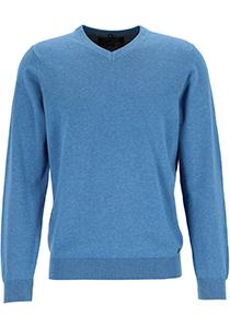 MARVELIS modern fit trui katoen, V-hals, lichtblauw