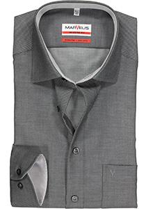 MARVELIS Modern Fit overhemd, zwart structuur (contrast)