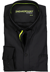 VENTI modern fit overhemd, zwart (neon contrast)
