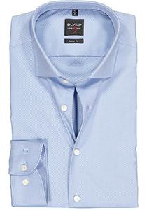 OLYMP Level 5 body fit overhemd, lichtblauw diamant twill
