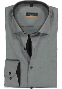 ETERNA Slim Fit Stretch overhemd, antraciet (zwart contrast)