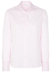 ETERNA dames blouse modern classic, stretch satijnbinding, roze