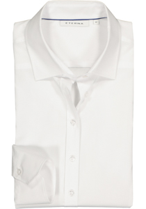 Eterna dames blouse Modern Classic stretch, wit