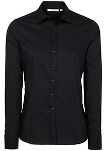 ETERNA dames blouse modern classic, stretch, zwart