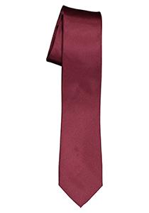 ETERNA smalle stropdas, bordeaux rood