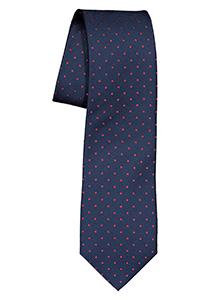 ETERNA stropdas, marine blauw met wit gestipt