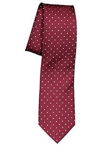 ETERNA stropdas, bordeaux rood met wit gestipt