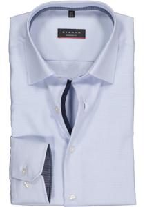 Eterna Modern Fit overhemd, lichtblauw twill (contrast)