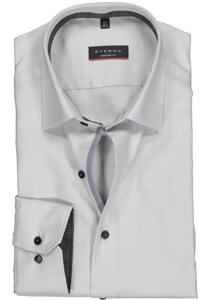 Eterna Modern Fit overhemd, grijs twill (contrast)