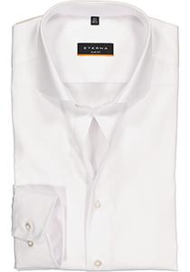 Eterna Slim Fit overhemd, mouwlengte 72 cm, niet doorschijnend wit twill