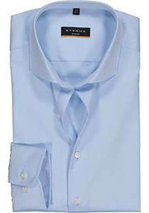 ETERNA Slim Fit overhemd, niet doorschijnend lichtblauw twill