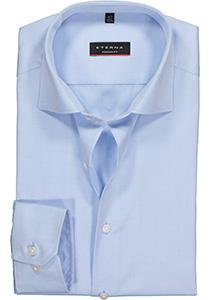 ETERNA Modern Fit overhemd, mouwlengte 7 niet doorschijnend lichtblauw twill