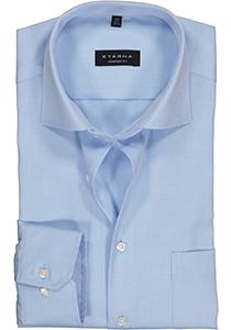 ETERNA Comfort Fit overhemd, lichtblauw niet doorschijnend twill