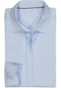 Eterna dames blouse Modern Classic stretch, lichtblauw