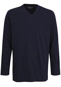 Ceceba pyjama of lounge T-shirt, lange mouw, blauw