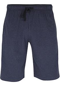 Ceceba heren pyjamabroek kort, blauw pied de poule