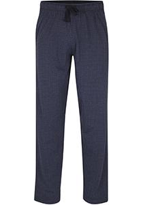 Ceceba heren pyjamabroek lang, blauw pied de poule