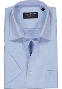 Casa Moda Comfort Fit overhemd, korte mouw, licht blauw