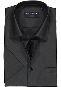 Casa Moda Comfort Fit overhemd, korte mouw, antraciet
