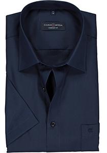Casa Moda Comfort Fit overhemd, korte mouw, donker blauw